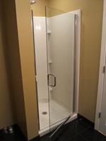 semi frameless door open door on a semi frameless door