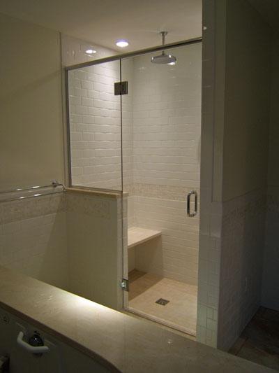 two panel frameless shower doors. Black Bedroom Furniture Sets. Home Design Ideas